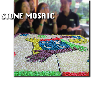Team Bond with Stone Mosaic